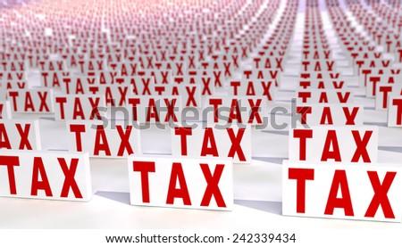 Many taxes - stock photo