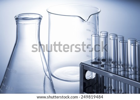 many test tube and experimental tool