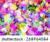 Many transparent dreamy bubbles in Chaotic Arrangement. Holiday Bokeh backgrounds - stock vector