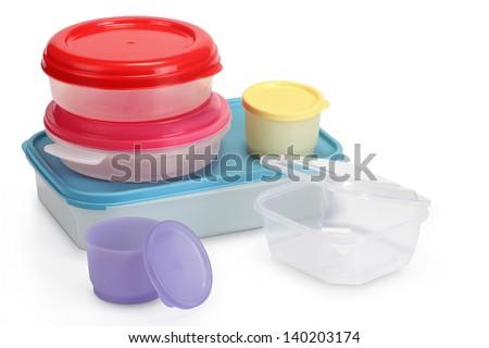 many tupperware - stock photo
