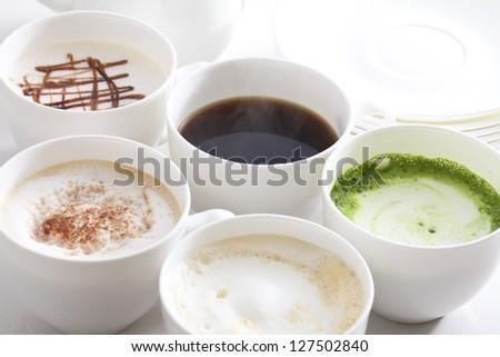 Many types of coffee - stock photo