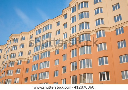 Many windows on residential building