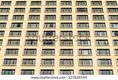 Many Windows on residential building hotel