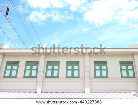 Many windows sky - stock photo