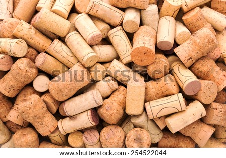 Many wine corks  - stock photo