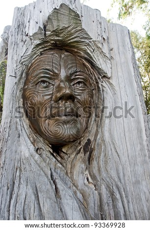 Maori carvings are often found in the parks of New Zealand
