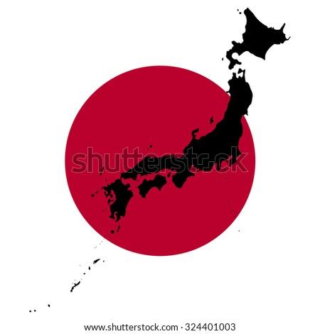 Map Flag Japan Stock Illustration Shutterstock - Japan map flag