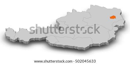 Map austria vienna 3dillustration stock illustration 502045633 map austria vienna 3d illustration gumiabroncs Gallery