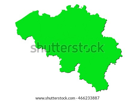map-belgium country on white background.