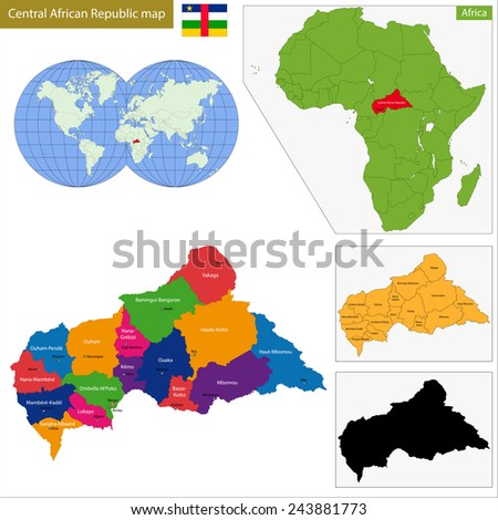 Central African Republic Map Stock Images RoyaltyFree Images - Central africa map