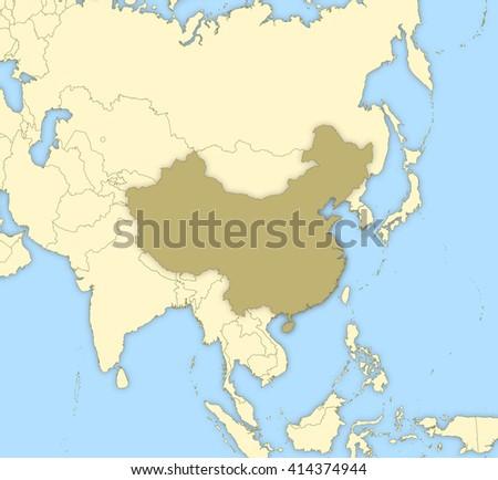 Map - China - stock photo
