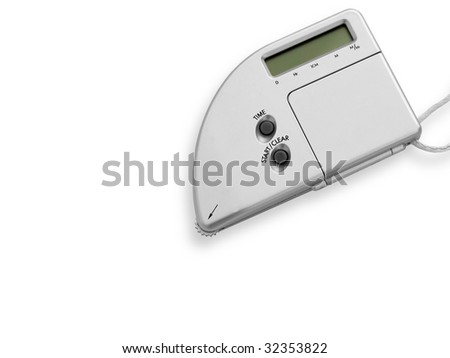Map-counter isolated on a white background. A tool for travellers