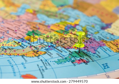 Map England - stock photo