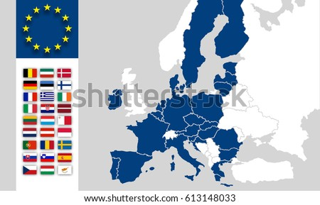 Map eu countries without united kingdom stock illustration 613148033 map eu countries without united kingdom european union flags brexit uk world map gumiabroncs Choice Image