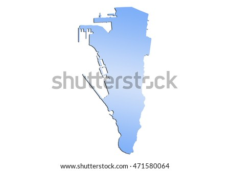 map-gibraltar country on white background.