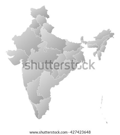 Map - India, Chandigarh - stock photo