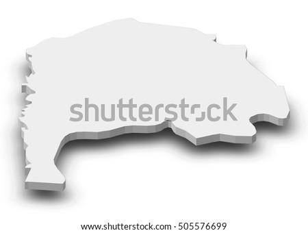 Map Irbid Jordan 3dillustration Stock Illustration 505576699