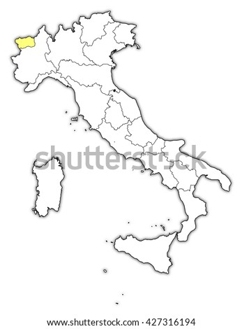 Map - Italy, Aosta Valley