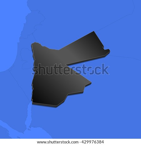 Map - Jordan - 3D-Illustration