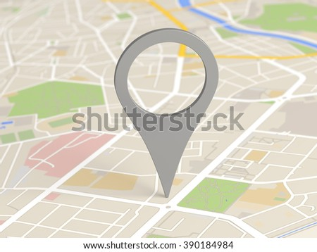map locator icon - stock photo