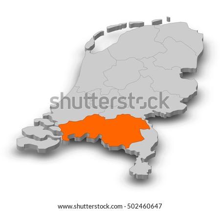 Brabant Map Images Stock Photos Vectors Shutterstock