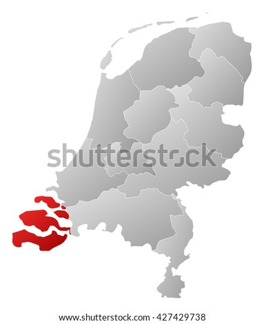 Map - Netherlands, Zeeland