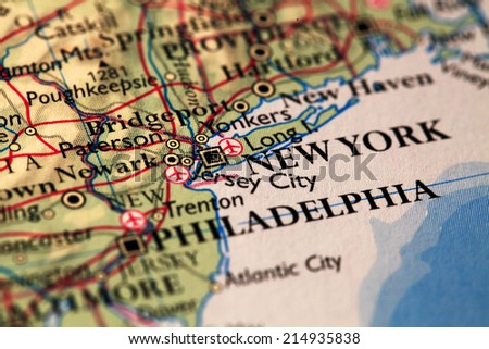 Map New York city - stock photo