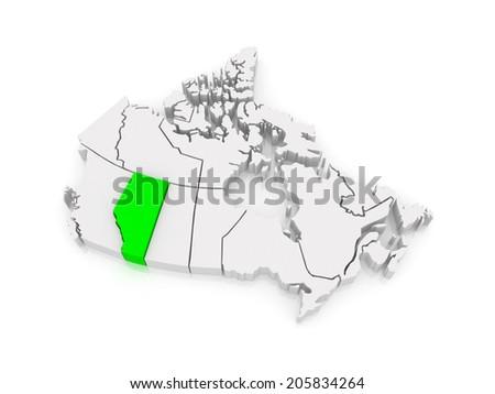 Alberta map imgenes pagas y sin cargo y vectores en stock map of alberta canada 3d gumiabroncs Images