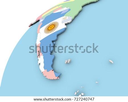 Argentina Globe Stock Images RoyaltyFree Images Vectors - Argentina globe map