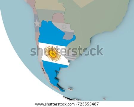 Argentina Map D Stock Images RoyaltyFree Images Vectors - Argentina globe map