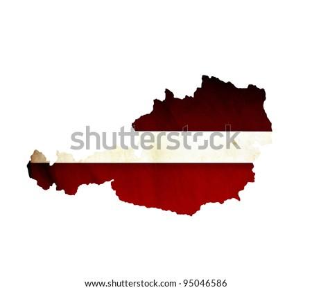 Map of Austria isolated - stock photo
