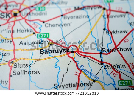 Map Babruysk Stock Photo Royalty Free 721312813 Shutterstock