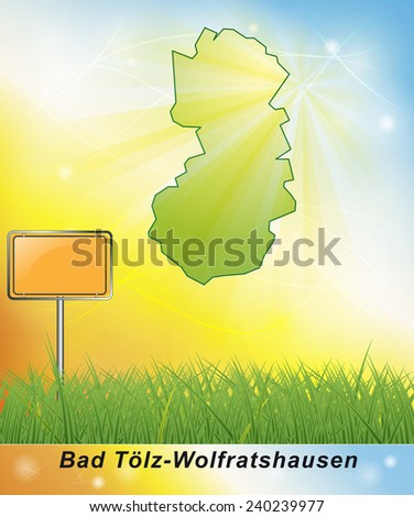 Map of Bad Toelz Wolfratshausen