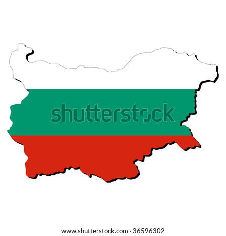 map of Bulgaria with their flag illustration JPEG