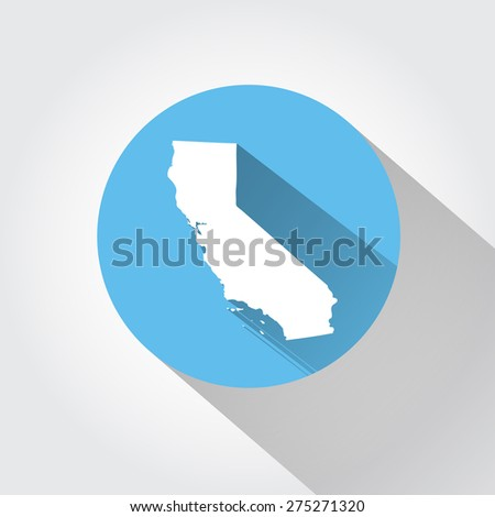 Map of California   - stock photo