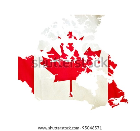 Map of Canada isolated - stock photo