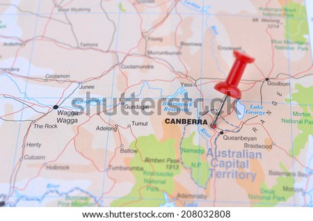 Map of Canberra Australia