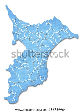 Chiba Japan Map Icon Stock Vector Shutterstock - Japan map chiba