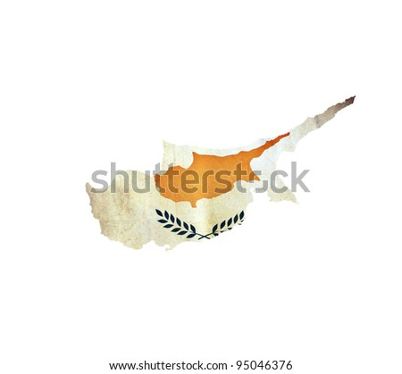 Map of Cyprus isolated - stock photo