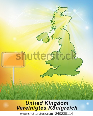 Map of England     - stock photo