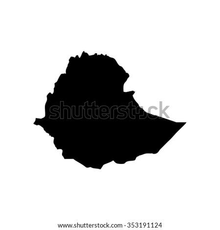 Map of Ethiopia - stock photo