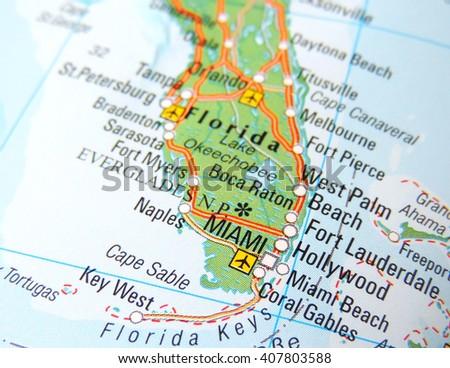 Florida Road Map Stock Images RoyaltyFree Images Vectors - Florida road map
