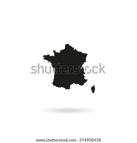 Map of France. - stock photo