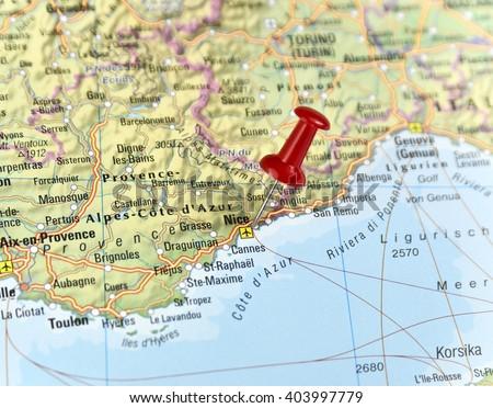 Map France Pin Set On Nice Stock Photo Image RoyaltyFree