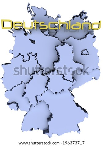 Map of Germany states German republic Deutschland name