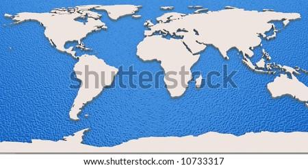 Map of Globe - stock photo