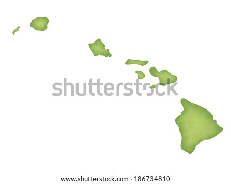 Map of Hawaii - stock photo