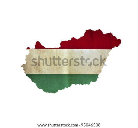 Map of Hungary isolated - stock photo