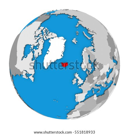 Map iceland highlighted red on globe stock illustration 551818933 map of iceland highlighted in red on globe 3d illustration isolated on white background gumiabroncs Gallery
