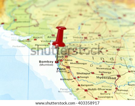 Mumbai map stock images royalty free images vectors shutterstock map of india with pin set on mumbai gumiabroncs Gallery